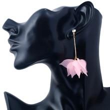 Hello Miss Creative Scrub Multi-layer Petal Stud Earrings Exaggerated Personality Tassel Fashion Womens