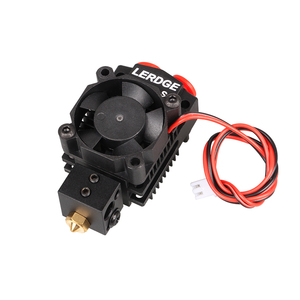 Image 4 - LERDGE 2 IN 1 S1 3D Printer Parts Bowden MK8 Titan V6 Extruder dual hotend Switching 2 colors Multi Color 0.4 Nozzle Kits