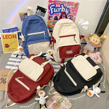 New Waterproof Nylon School Bags For Teenage Girls 2021 Kawaii Women Laptop Backpack Large Backbag Student Schoolbag Mochilas 1