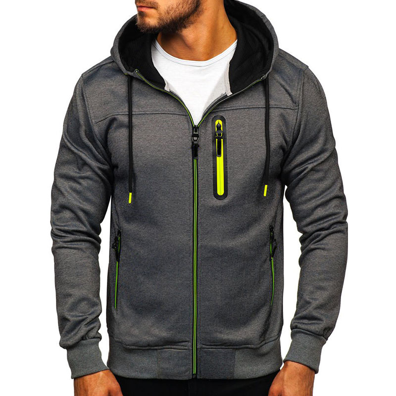 New Hoodies Men 2019 Long Sleeve Pullover Hoodies Men Zipper Sweatshirt Male Tracksuit Hip Hop Autumn Winter Hoodies Coat Plus