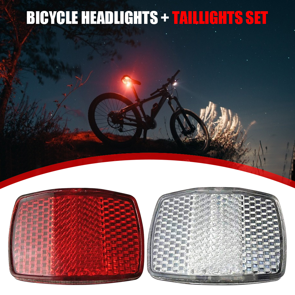 Bike Front Reflective Light Rear Warning Lamp Safety Bicycle Handlebar Reflector for Outdoor Caring Personal Bicycle Supply