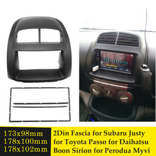 2din rádio do carro facia para subaru justy para toyota passo para daihatsu boon sirion para perodua myvi (i) estéreo cd player moldura