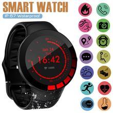 v07 heart rate blood pressure monitor smart bracelet blue Full Touch Screen Waterproof Smart Watch  Sports Tracker Fitnes  Smart Bracelet Blood Pressure Heart Rate Monitor