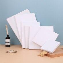 1pc blanc blanc carré artiste toile pour toile peinture à l'huile, cadre en bois pour peinture acrylique à l'huile apprêtée