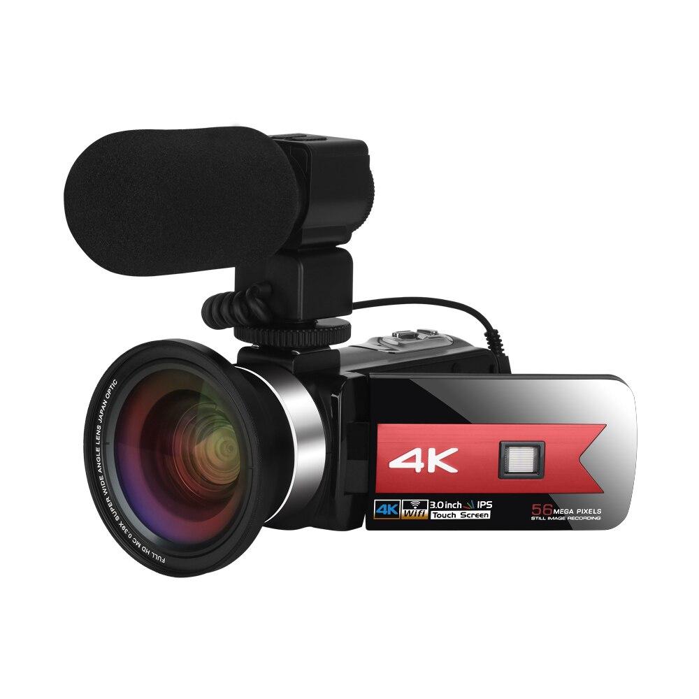KOMERY 4K видеокамера с углом поворота 270 градусов для YouTube веб-камера с ночным видением Wi-Fi сенсорный экран HD видео цифровая камера видеокамера