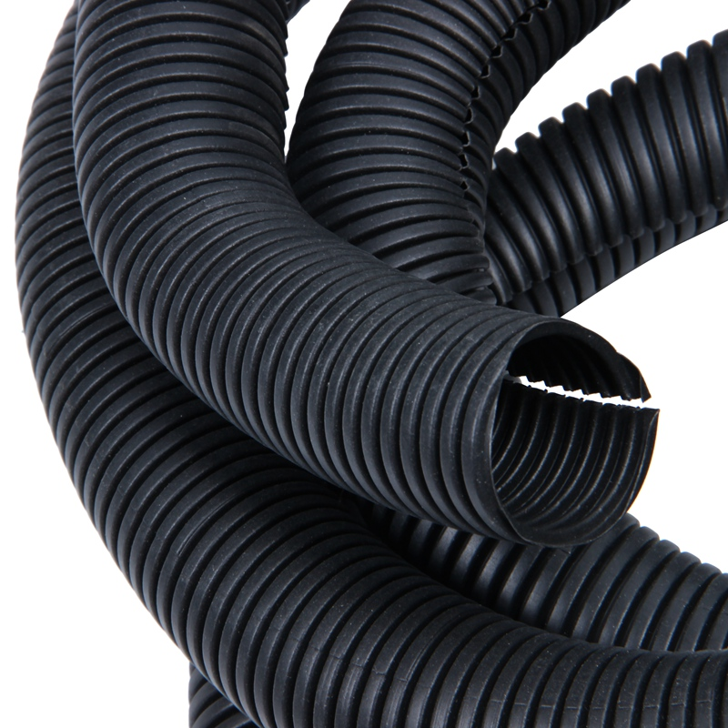 - 10FT Polyethylene 1.5 Split Wire Loom Tubing Gray