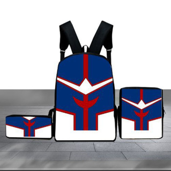 Hot 3 Pcs/set Children School Bags My Hero Academia 3D Prints School Backpack Set Kids Waterproof Book Bags