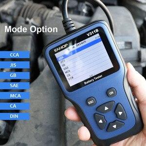 Image 2 - Eanop 12 12v車のバッテリーテスターデジタルlcd診断バッテリーテスター自動車アナライザ充電開始スキャナツールR200