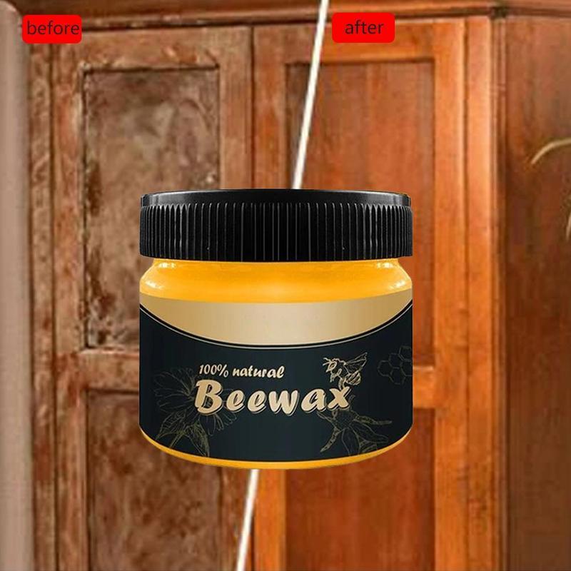 Wood Seasoning Beewax Wood Care Wax Solid Wood Maintenance Cleaning Polished Waterproof Wear-Resistant NaturalWax Furniture Care