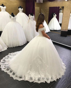 Image 3 - 2020 New Design Wedding Dress Ball Gown Sweetheart Tulle Lace Beading Elegant Bridal Wedding Gowns Customize EY38