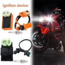 Motorcycle Start CDI Device High Voltage Igniter Racing AC 6 Pin CDI Box Ignition Coil Spark Plug for GY6 50-150CC Scooter Parts automatic single cylinder ignition cdi for cm6 10mm 90 degree spark plug dle gas engine 6v 12v
