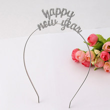 Happy New Year Tiara Crown Headband Shimmering Powder Headband Chinese Spring Festival Decoration Party Decoration Gifts(China)