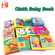 Baby-Cloth-Books Vegetables Fruits Early-Learning Soft Toys Educatichildren Sea-World
