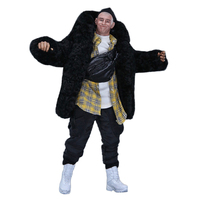 1pcs Modern Male Clothing Trend Winter Suit For 1/6 30cm Action Figure Soldier Model (Without Figure And Head Sculpt)