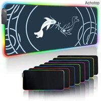 Fish Art-alfombrilla de ratón grande RGB para Gaming, alfombrilla de ratón de colores para ordenador portátil ASUS, tapete para ordenador portátil