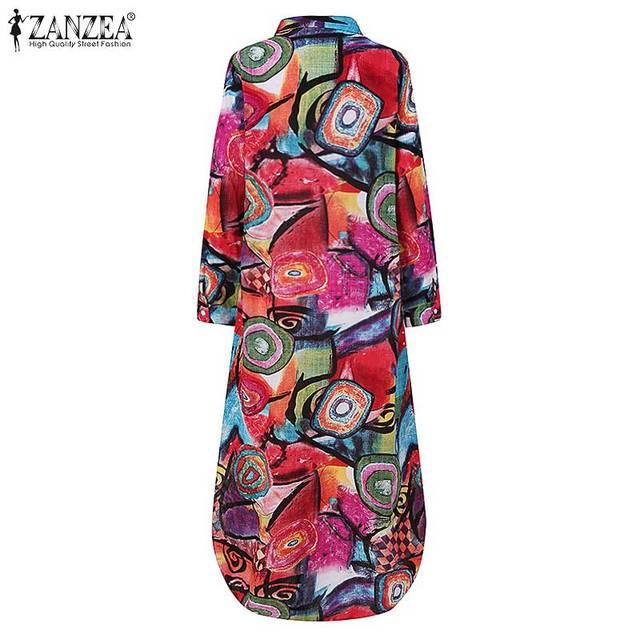 glamourous print dress, striking and fun  3