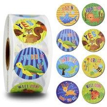 500 шт канцелярские наклейки круглые Симпатичные животные Стикеры