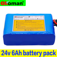 original 6s2p  24V 6Ah 18650 Battery Lithium Battery 25.2v 6000mAh Electric Bicycle Moped /Electric/Li ion Battery Pack with BMS