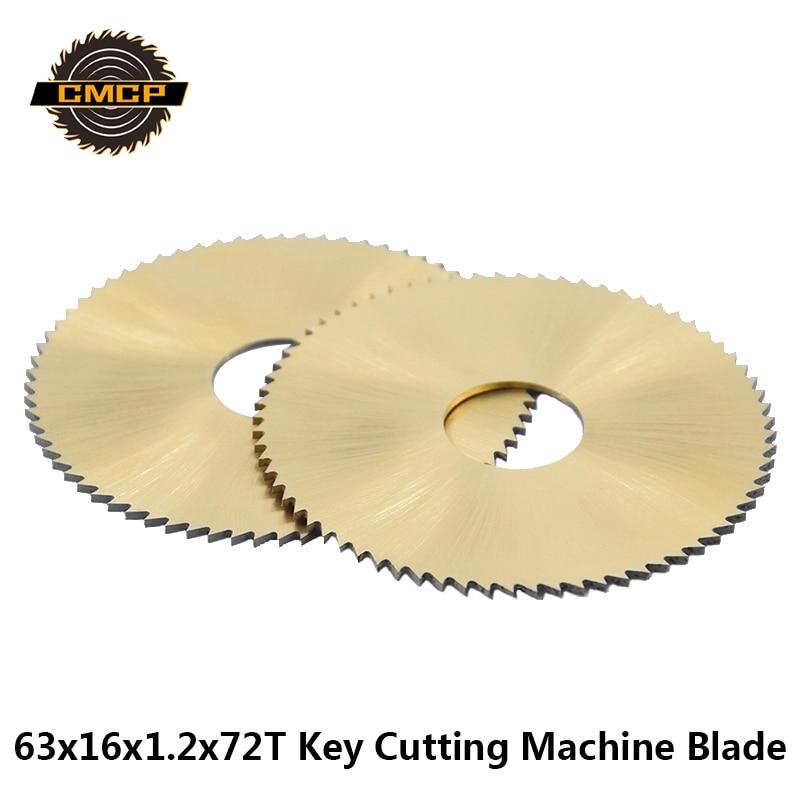 63mm x 1.2mm x 16mm HSS 72T Slitting Saw Cutting Tool Silver Tone