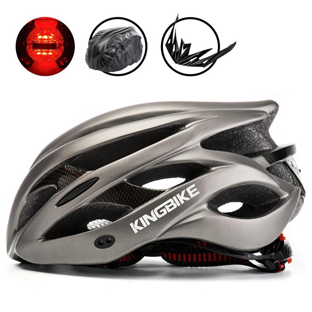 KINGBIKE Cycling Helmet Road Bike Helmet Ultralight Mountain MTB CE Safety Bontrager PVC+ EPS Bicycles Helmets Bike Light Helmet|Bicycle Helmet| |  - title=