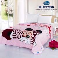 Minnie Mickey Mouse Thin Comforter Disney 3d Cartoon Summer Quilt Cotton Cover Child Boy Bedroom Soft Blanket Girl Bedspread