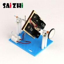 Saizhi DIY Mini Generator Übertragung Rad Motor Elektrische Generator Motor Energie Für Kinder LED Bildung Wissenschaft Experiment