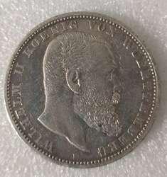 Немецкая 5 Mark старая настоящая Серебряная коин100% Оригинальные монеты Европейская Коллекционная монета