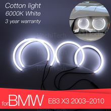 3 lata gwarancji wzrost jakości zestaw LED oczy anioła bawełna białe Halo pierścień dla BMW E83 X3 2003 2010