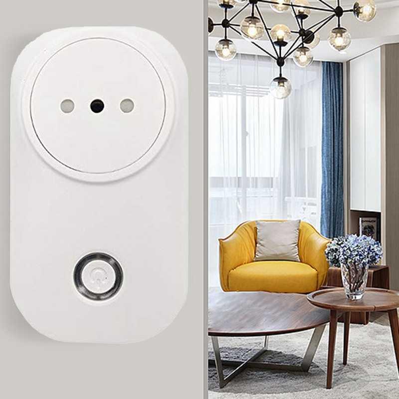 AMS-2Pcs Smart Wifi Italia enchufe de alimentación temporizador soporte Google Home Alexa voz
