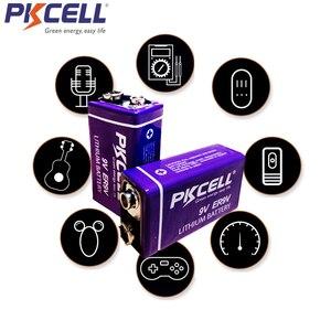 Image 4 - 4Pcs PKCELL ER9V 1200mAh 9V Li SOCl2 ליתיום סוללות Bateria עבור עשן מעורר ליתיום יון סוללה 6LR61 6F22