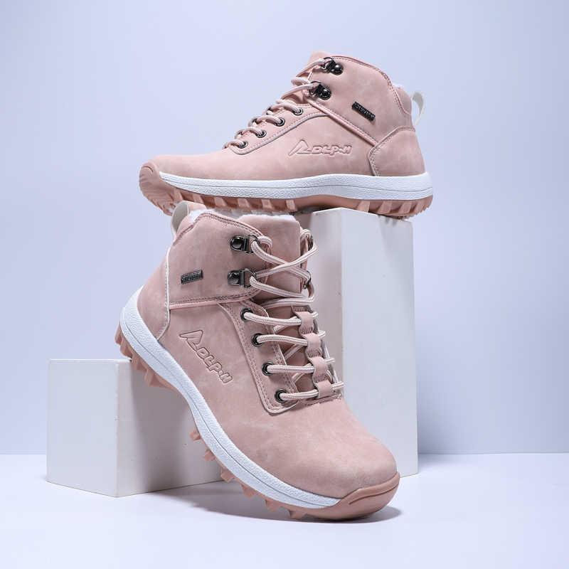 חדש נעלי נשים סתיו חורף נשים קרסול מגפי חם קטיפה חורף נעלי נשים נוח חיצוני נוסע מגפי עבור נקבה
