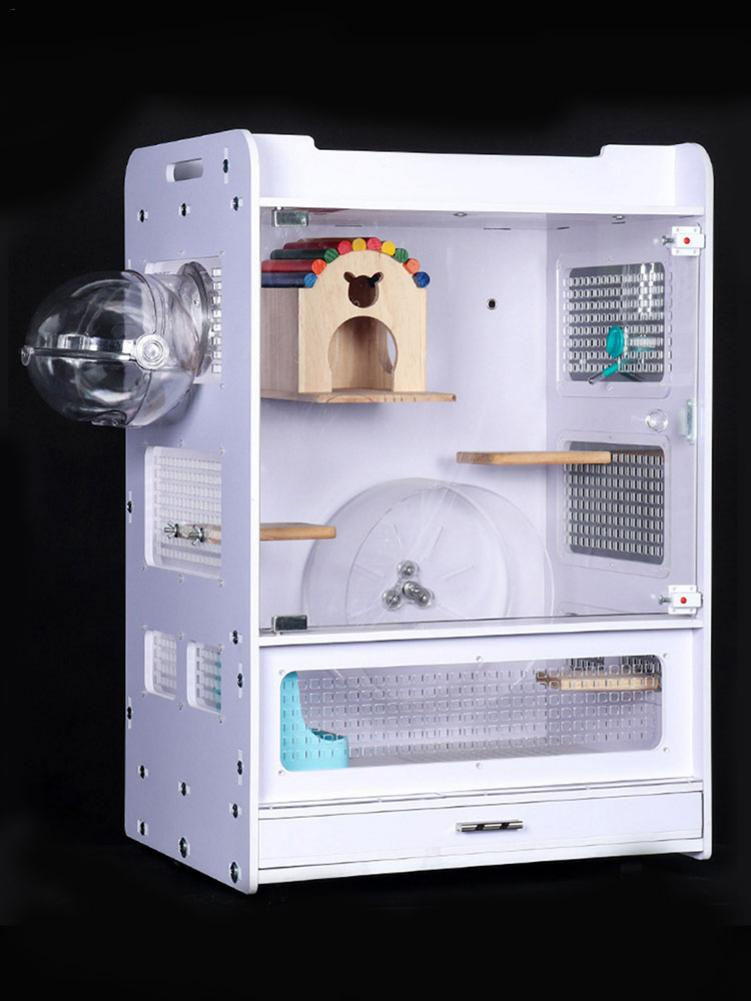 Pet Hamster External Bathroom House Small Animal Bathing Equipment for Chinchilla Hamster Guinea Pigs Cleaning Supplies