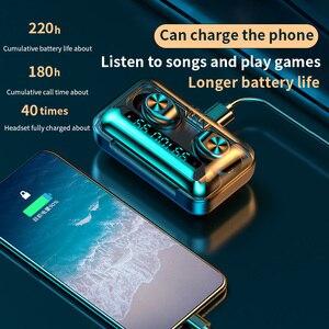 Image 5 - חדש F9 TWS Bluetooth אוזניות 5.0 טעינת תיבה עמיד למים אלחוטי אוזניות 8D סטריאו ספורט אוזניות Microphoe עבור טלפון חכם