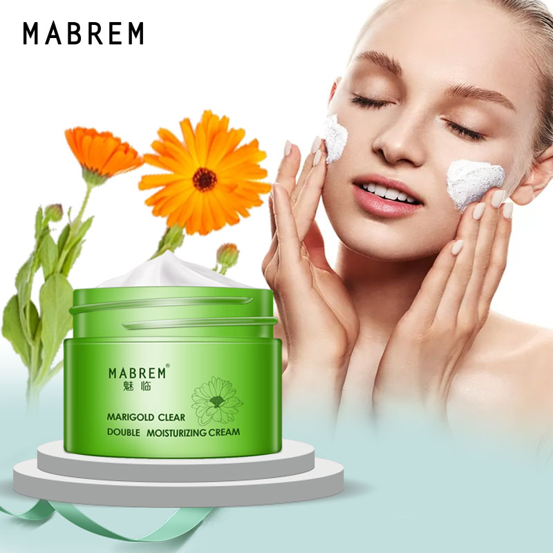 MABREM Calendula Double Moisturizing Cream Anti-Aging Whitening Wrinkle Removal Repair pores Relieves Rough And dry Skin Care image