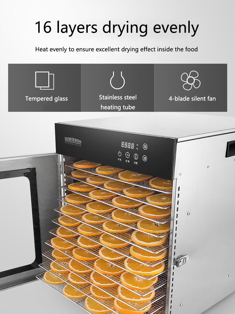 8-20 Layers Food Dryer Household Fruit And Vegetable Dehydrator Seafood Snacks Air Dry  Business Stainless Steel  High Capacity