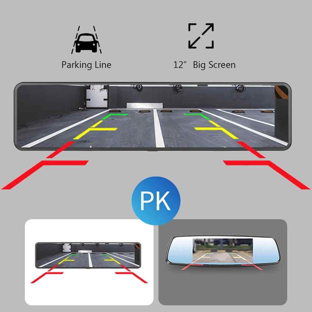 HGDO 12 ''4G ADAS kamera samochodowa Android 8.1 3 ekrany lusterko wsteczne FHD 1080P WiFi GPS kamera na deskę rozdzielczą rejestrator wideorejestrator