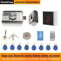 Homefong Serratura Elettronica per Video di Sostegno Citofono Telefono Del Portello Del Video A Distanza di Sblocco Della Porta di Casa Sistema di Sicurezza di Controllo di Accesso