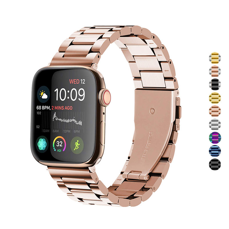 watch accessories strap for apple watch band 42mm 38mm apple watch 4 5 band 44mm 40mm iwatch 5/4/3/2/1 stainless steel bracelet