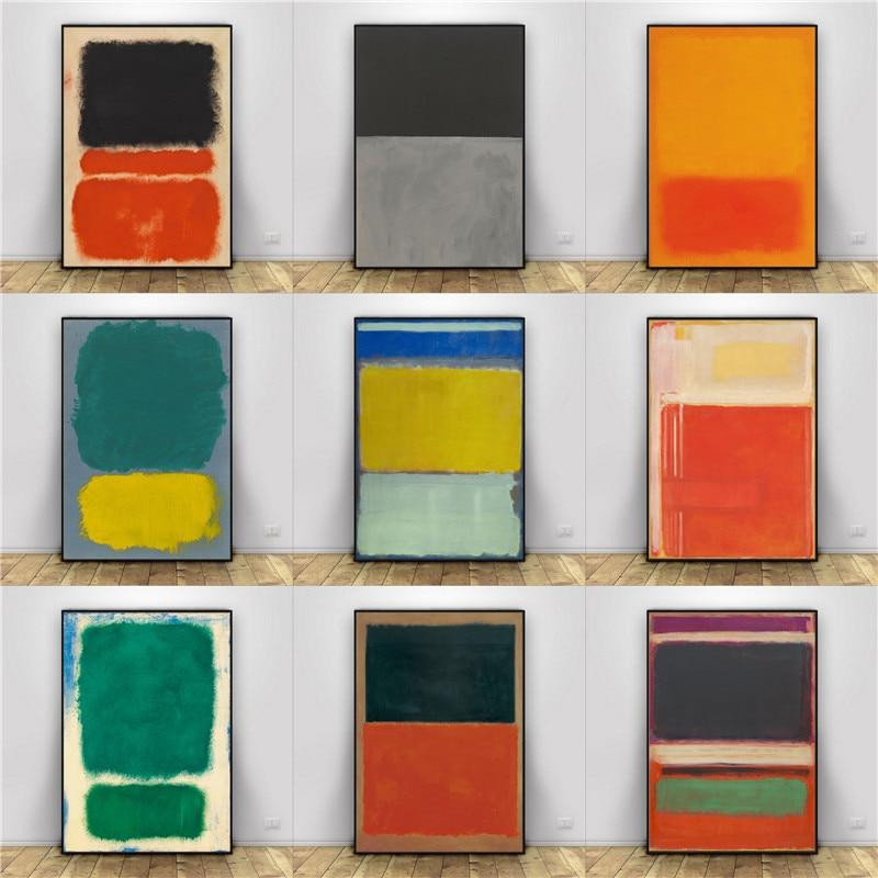 Марка Ротко абстрактная живопись маслом на холсте без рамы спрей выполненные голограмма гостиная домашний декор искусство