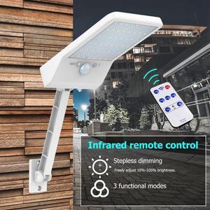 Image 4 - 48 LED Remote Control Solar Light LED Outdoor Waterproof PIR Motion Sensor Solar Wall Light 1/3 Mode Garden Street Solar Lamp