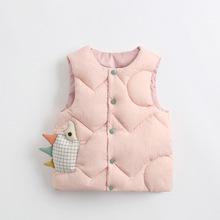 2020 Toddler Boy Girl kamizelka jesienno-zimowa Cartoon Baby kamizelki kurtka bawełniana ciepła dziecięca odzież wierzchnia odzież dla niemowląt odzież dziecięca tanie tanio Poliester NYLON CN (pochodzenie) Unisex O-neck Moda Kurtki płaszcze Pasuje prawda na wymiar weź swój normalny rozmiar