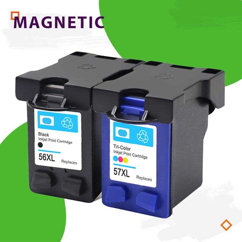 Compatible ink <font><b>cartridge</b></font> for <font><b>hp</b></font> 56 57 Deskjet 5150 450CI <font><b>5550</b></font> 5650 7760 9650 PSC 1315 2110 2210 2410 printer For HP56 image