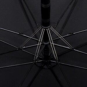 Image 5 - Двойной Ветрозащитный Зонт с длинной деревянной ручкой, с 8 ребрами, для мужчин и женщин