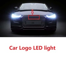 Au 4D 전면 후면 자동차 LED 엠 블 럼 라이트 자동차 배지 로고 Daylighting 전구 마커 DRL RS 4 5 di