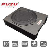 Universal 10 Inch Cast Aluminum Fuselage Slim 600W Slim Under Seat Car Active Subwoofer Bass Amplifier Speaker