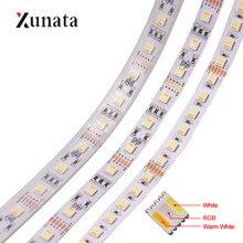 Tira de luces LED de 5M RGBCCT, cinta Flexible de 12V y 24V, 30LED/M, 60LED/M, 96LED/M, decoración de cinta LED impermeable, 5 colores en 1