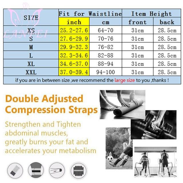 LANFEI Men Waist Trainer Cincher Body Shaper Belt Neoprene Weight Loss Tummy Control Modeling Strap Sauan Sweat  Slimming Corset 5