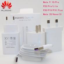 Huawei original mate 9 10 20 p10 plus p20 pro honra v10 supercharge rápido carregador super 4.5v5a tipo-c usb 3.0 tipo cabo c