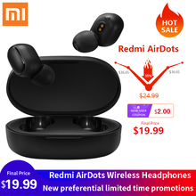 Express delivery original red rice airdots wireless Bluetooth headset red rice in ear stereo subwoofer headset red line stereo headset e01 black ут000009820