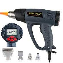 Pistolet à Air chaud 2000W sans fil, avec écran LCD, contrôle du vent, fonction de mémoire, kit de pistolet à Air chaud